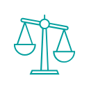 Justice Scales (teal) - Poliard Law Firm